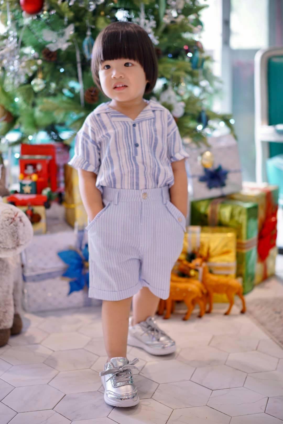 Diễn viên Lê Khánh cho con trai để tóc dài như con gái, lạ nhất là câu trả lời khi có người hỏi giới tính của con Ảnh 8
