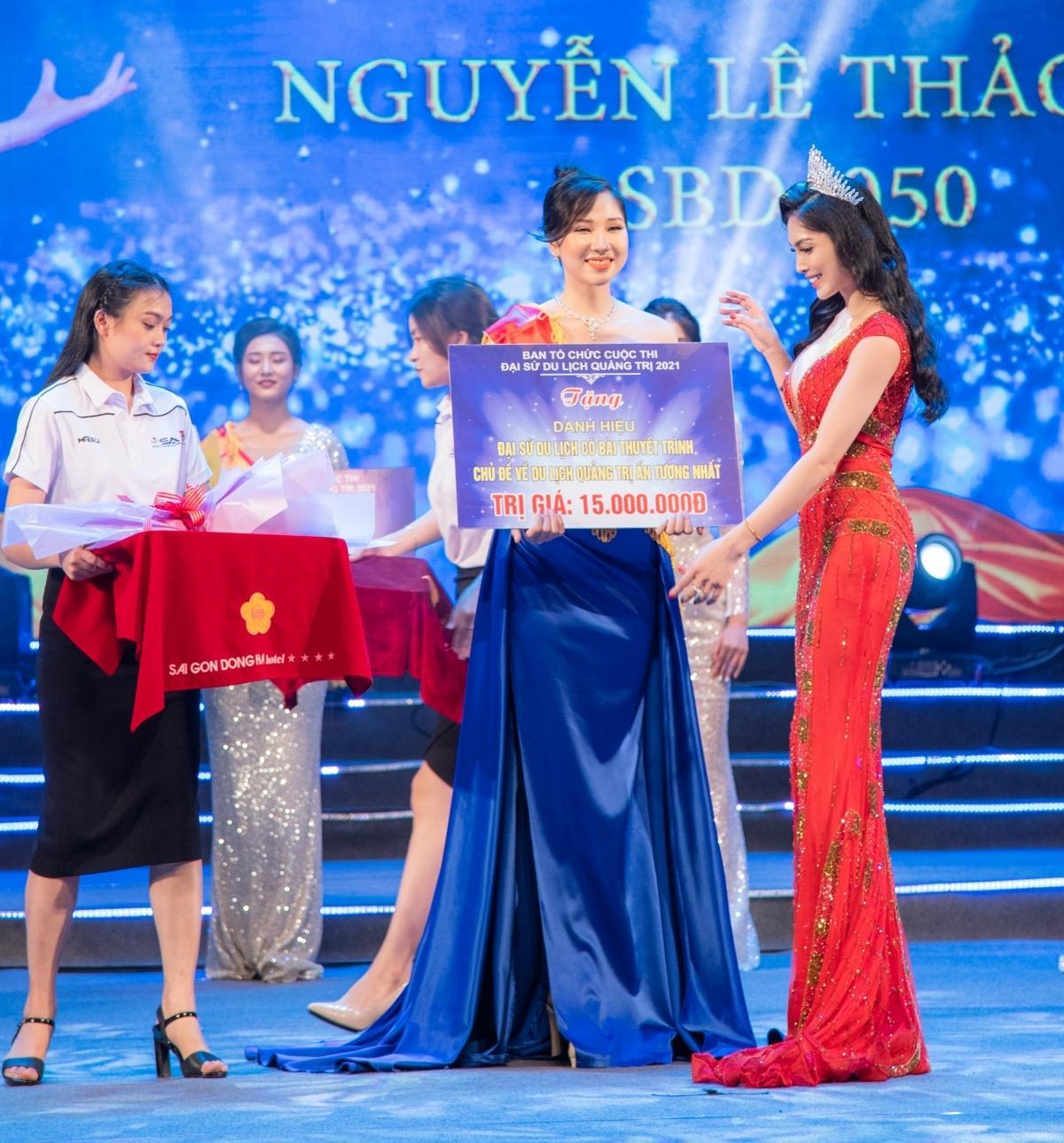 Kim Huyền Sâm xinh đẹp tại chung kết Đại sứ du lịch Quảng Trị 2021 Ảnh 4