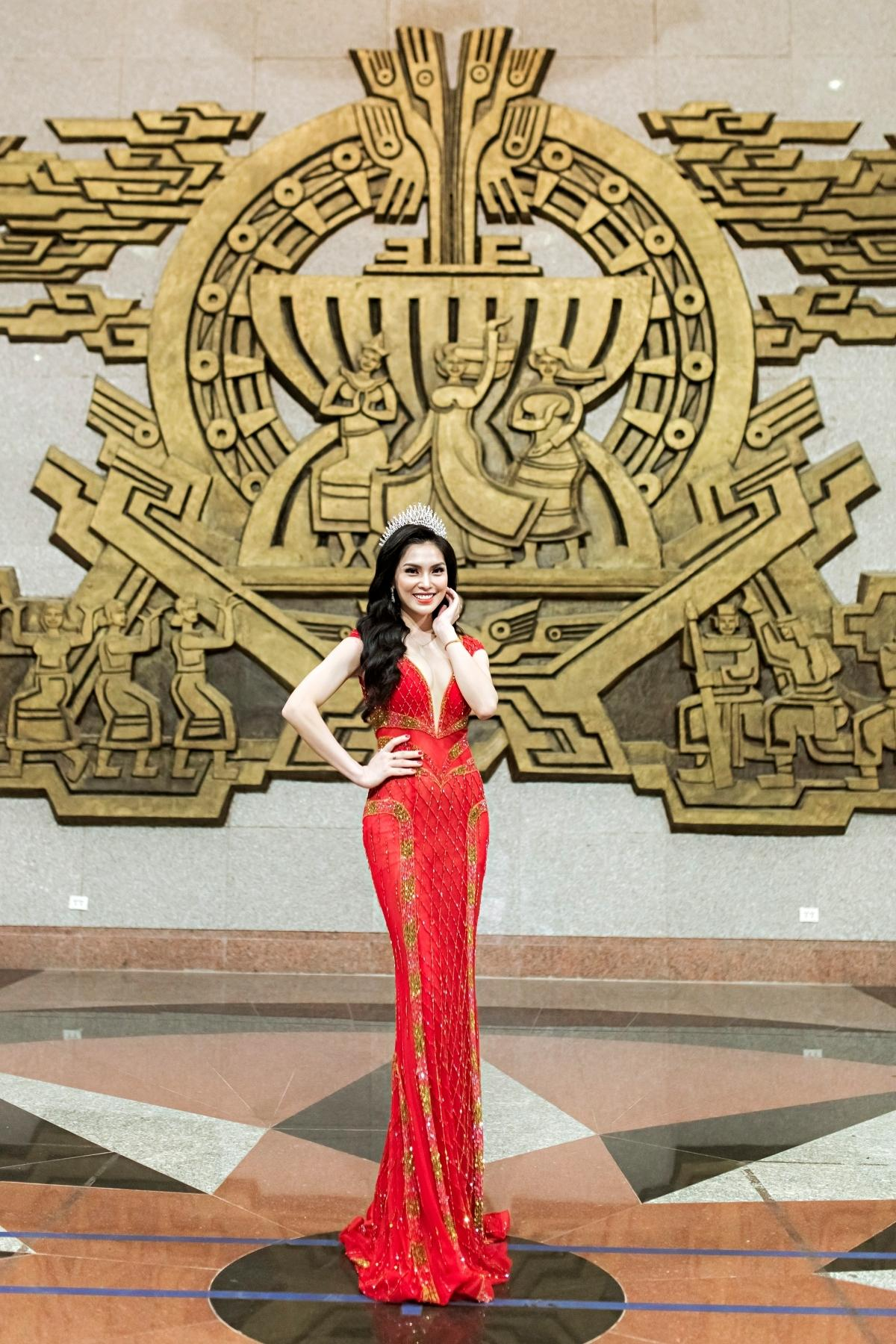 Kim Huyền Sâm xinh đẹp tại chung kết Đại sứ du lịch Quảng Trị 2021 Ảnh 2