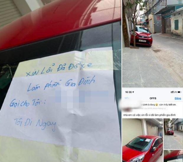 Tờ giấy nhắn của nữ tài xế đỗ xe chắn cửa gây 'bão mạng' Ảnh 2