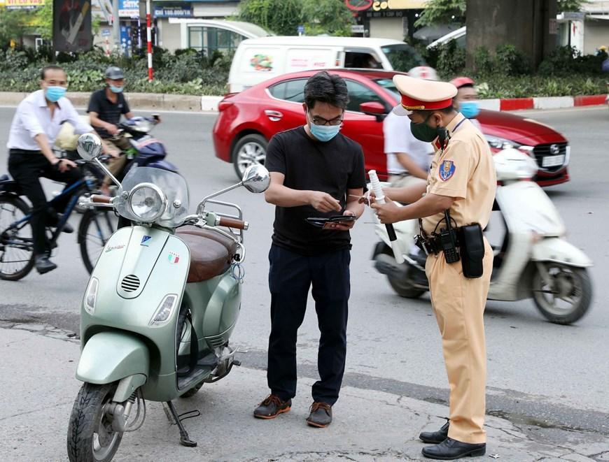CSGT Hà Nội huy động lực lượng hướng tới ngày hội bầu cử Ảnh 12