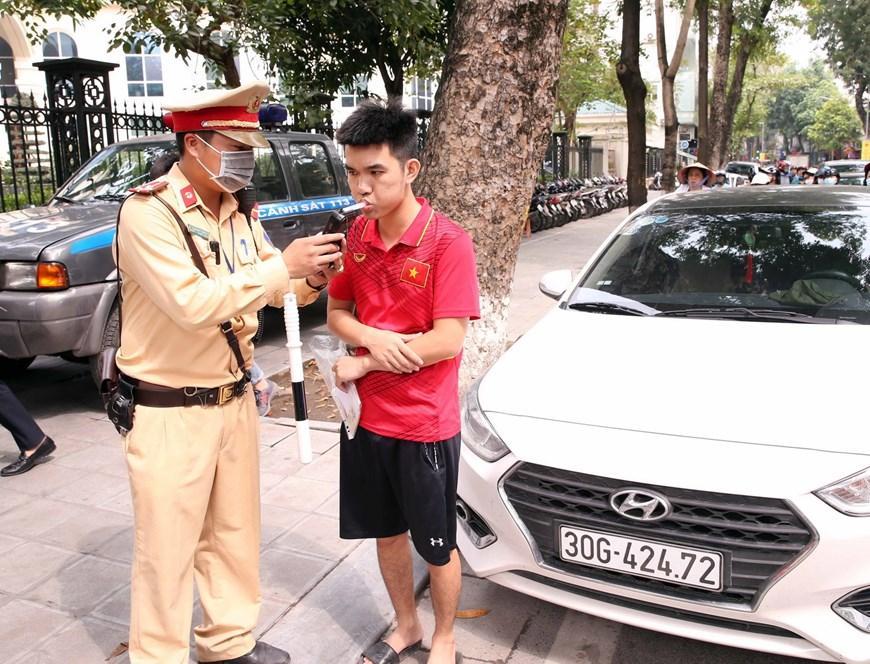 CSGT Hà Nội huy động lực lượng hướng tới ngày hội bầu cử Ảnh 1