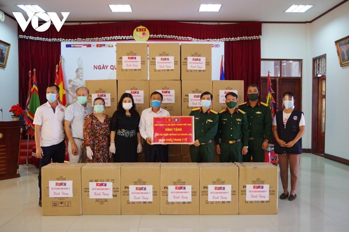 Binh đoàn 11 hỗ trợ Lào chống dịch Covid-19 Ảnh 2