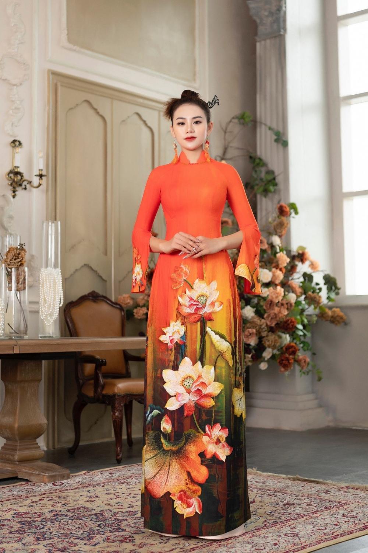 Áo dài Hoa sen truyền thống đón đầu xu thế năm 2021 Ảnh 8