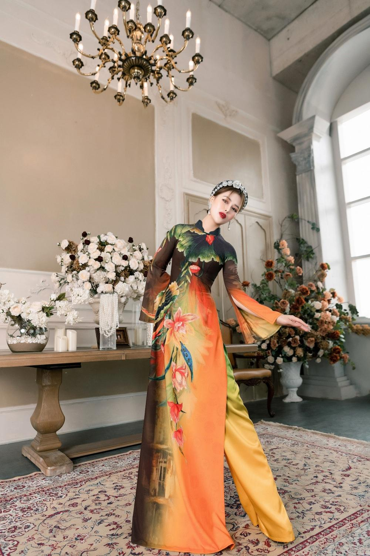 Áo dài Hoa sen truyền thống đón đầu xu thế năm 2021 Ảnh 6