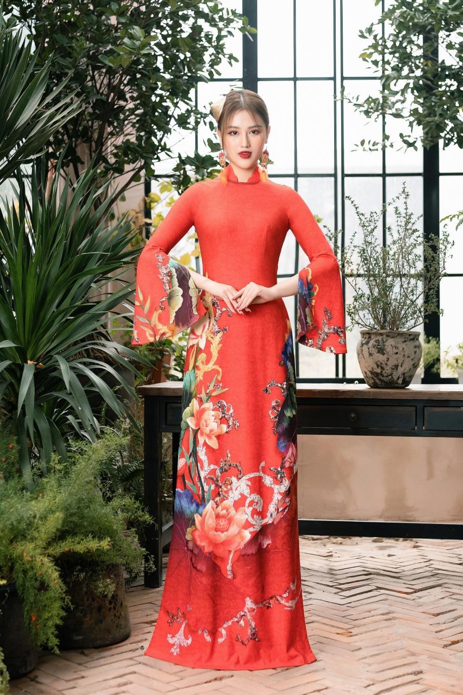 Áo dài Hoa sen truyền thống đón đầu xu thế năm 2021 Ảnh 9