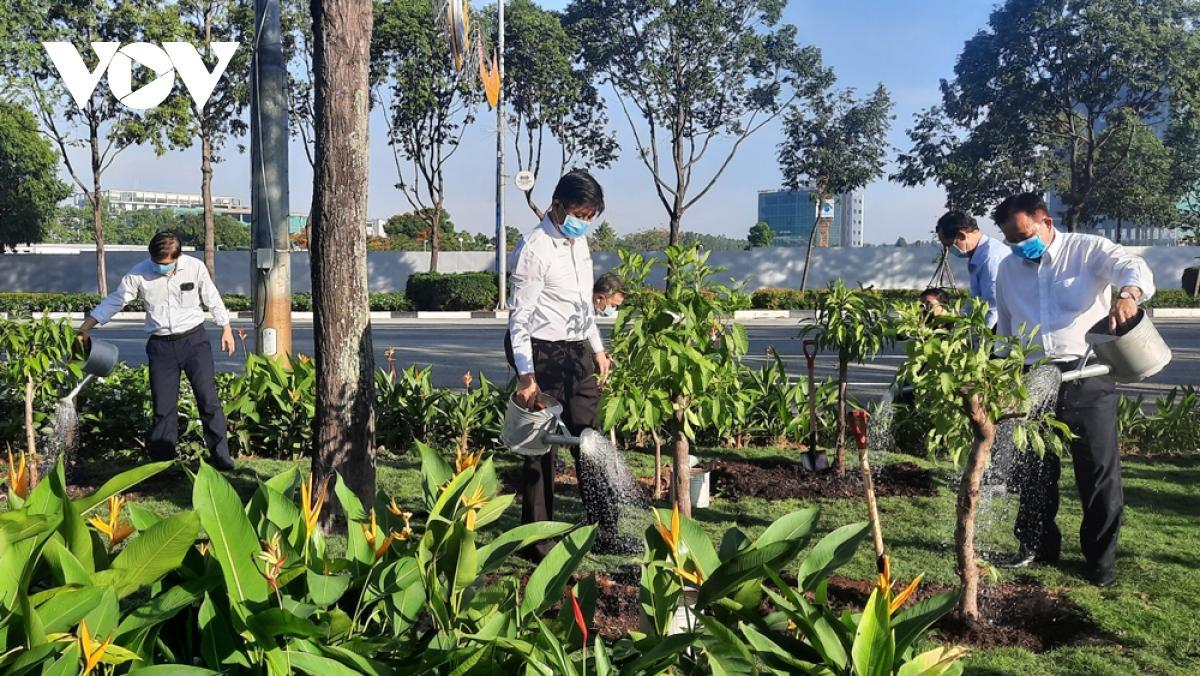 Bình Dương phát động Tết trồng cây nhớ Bác Ảnh 1