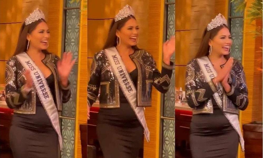 Đổi từ váy trắng sang váy đen, tân Hoa hậu Hoàn vũ Andrea Meza vẫn lộ vòng 2 kém thon gọn Ảnh 3