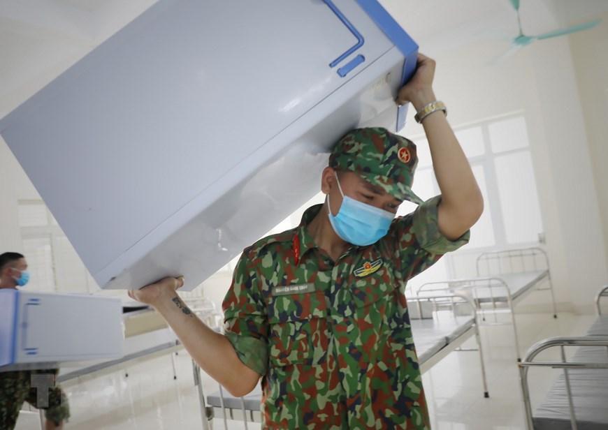 Bắc Giang thần tốc hoàn thành bệnh viện dã chiến trong ngày Ảnh 10