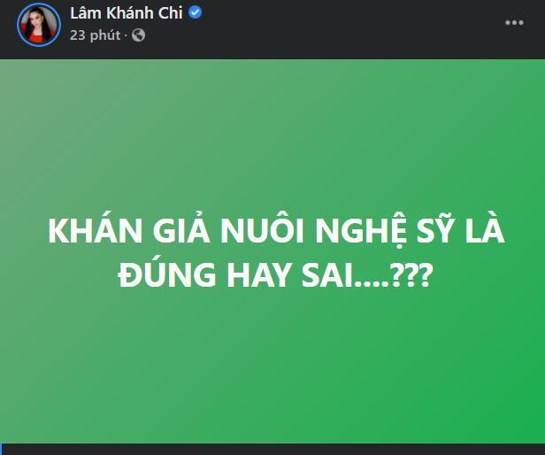 Pha xử lý cồng kềnh của Lâm Khánh Chi khi bàn về phát ngôn 'khán giả nuôi nghệ sĩ' từ bà Phương Hằng Ảnh 2