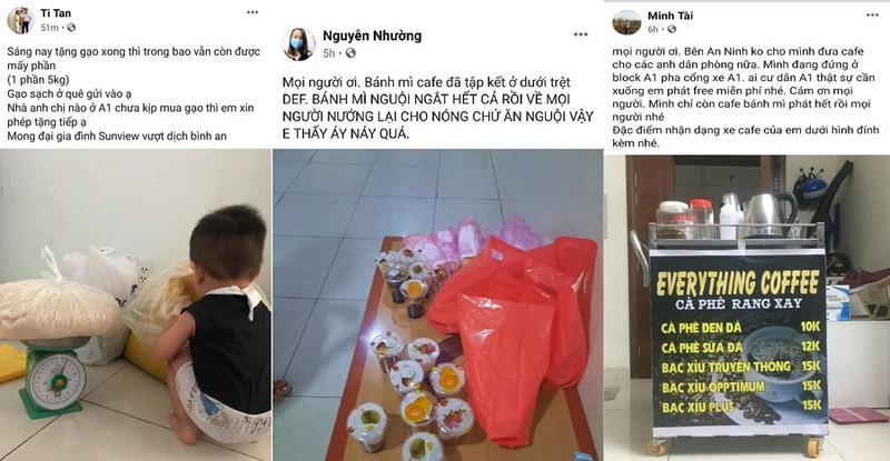 Chung cư Sunview Town: Đi chợ giùm, phát đồ ăn miễn phí Ảnh 2