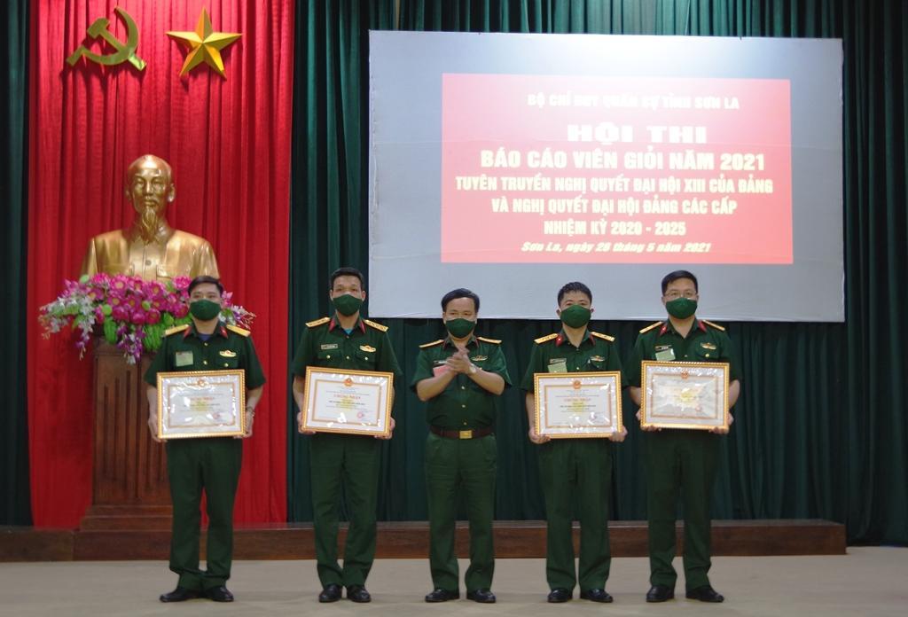 Bộ CHQS tỉnh Sơn La tổ chức Hội thi Báo cáo viên giỏi năm 2021 Ảnh 1