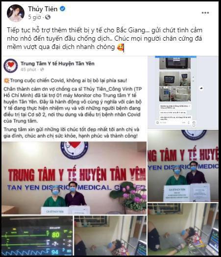 Thủy Tiên công khai hình ảnh gửi tặng thiết bị y tế cho Bắc Giang Ảnh 1
