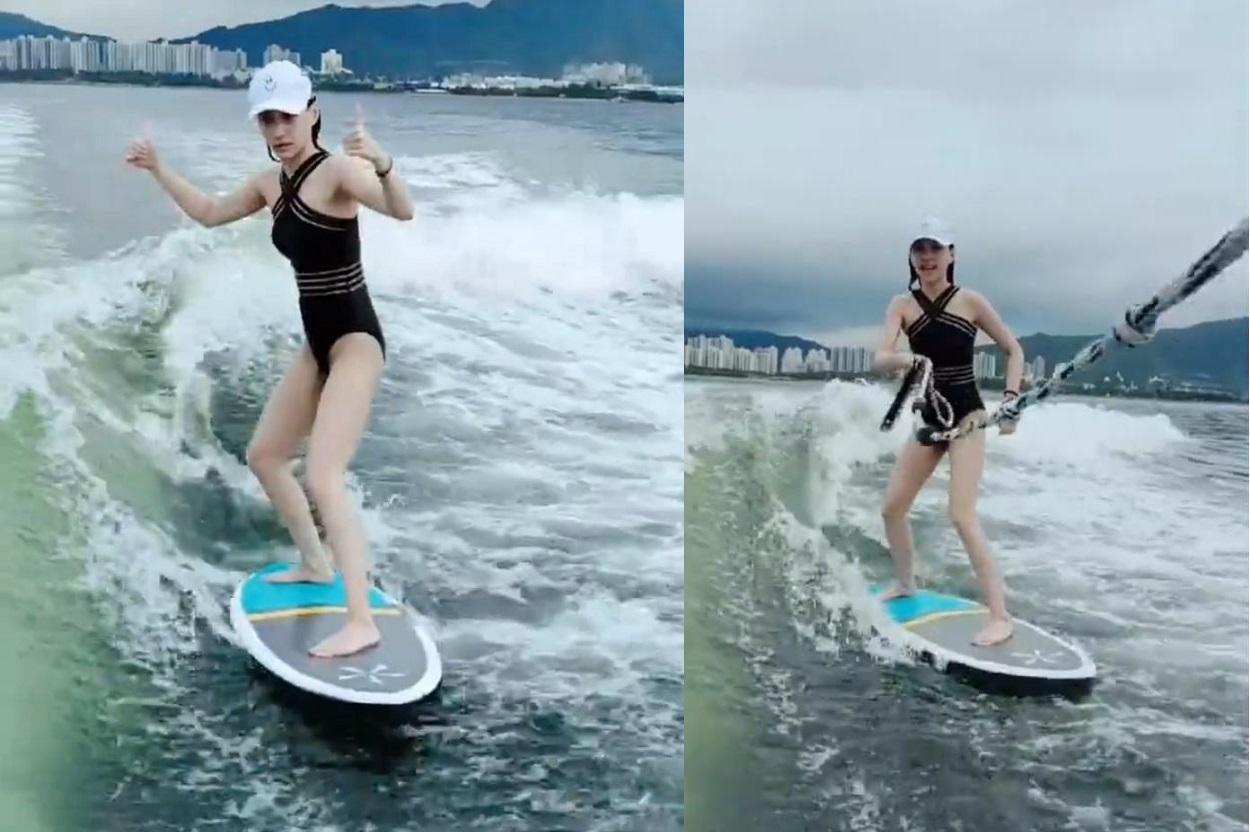 Ái nữ đẹp nhất của vua sòng bài Macau gây sốt vì mặc đồ bơi, lướt sóng điệu nghệ Ảnh 3
