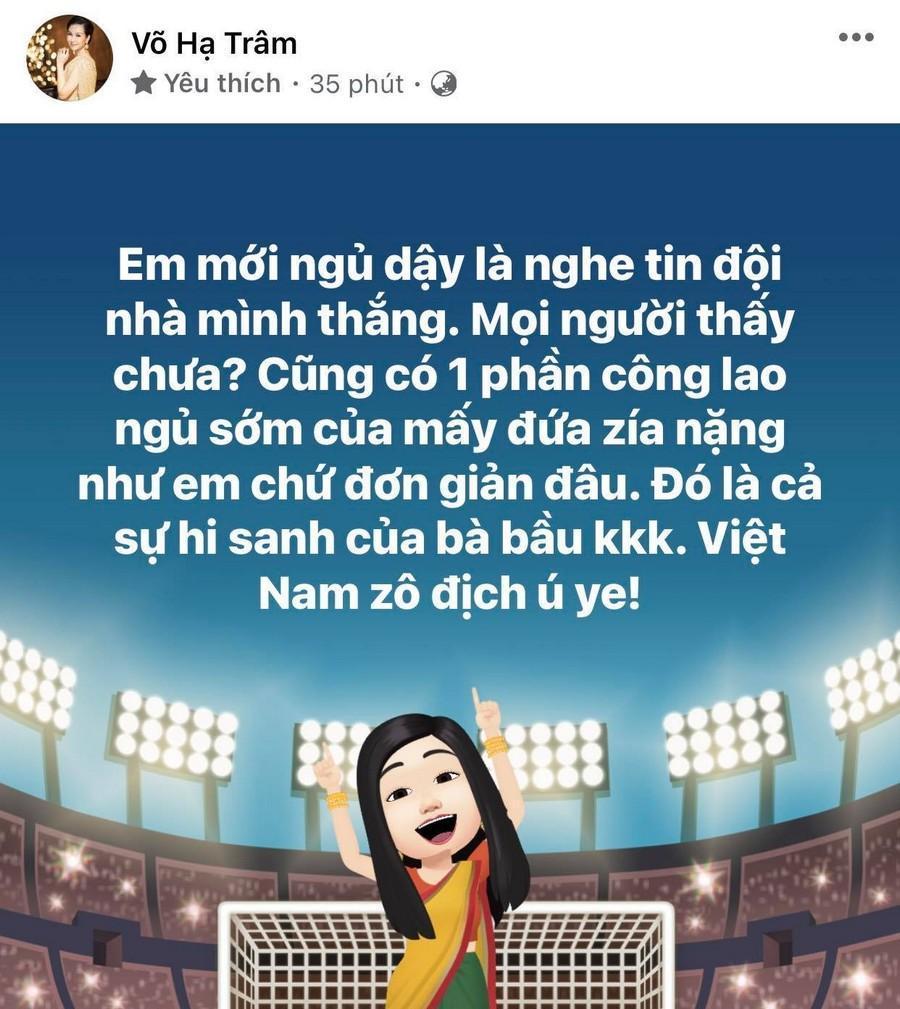 Dàn Hoa hậu, Á hậu nô nức cổ vũ, vỡ òa khi đội tuyển Việt Nam thắng 2-1 trước Malaysia Ảnh 17