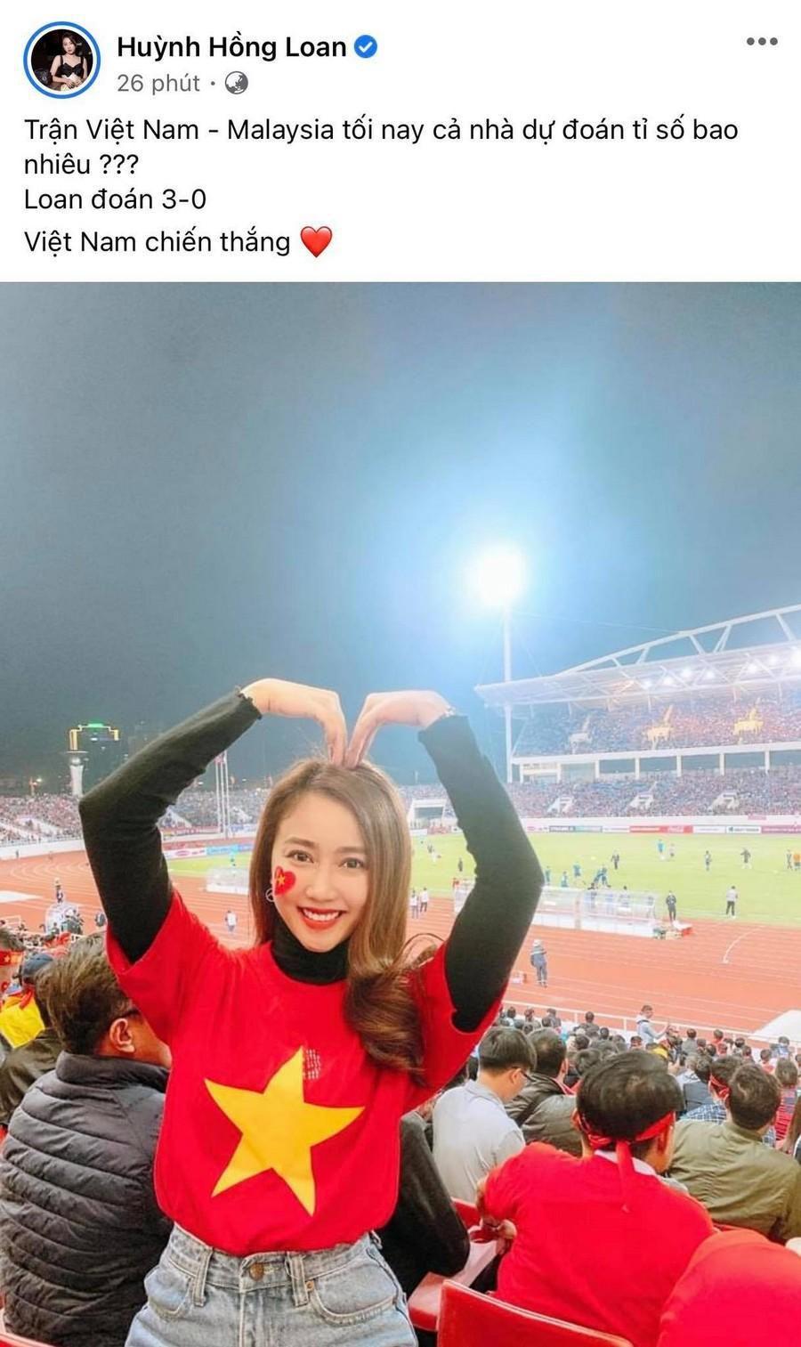 Dàn Hoa hậu, Á hậu nô nức cổ vũ, vỡ òa khi đội tuyển Việt Nam thắng 2-1 trước Malaysia Ảnh 12