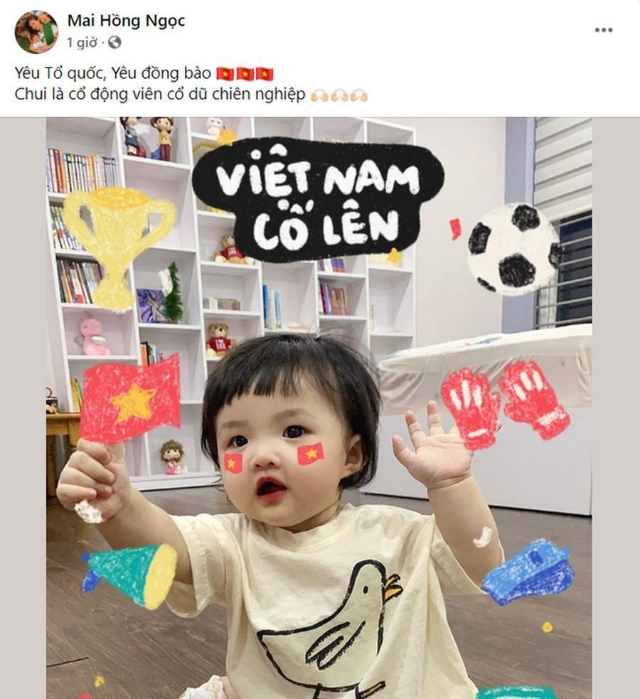 Dàn Hoa hậu, Á hậu nô nức cổ vũ, vỡ òa khi đội tuyển Việt Nam thắng 2-1 trước Malaysia Ảnh 1