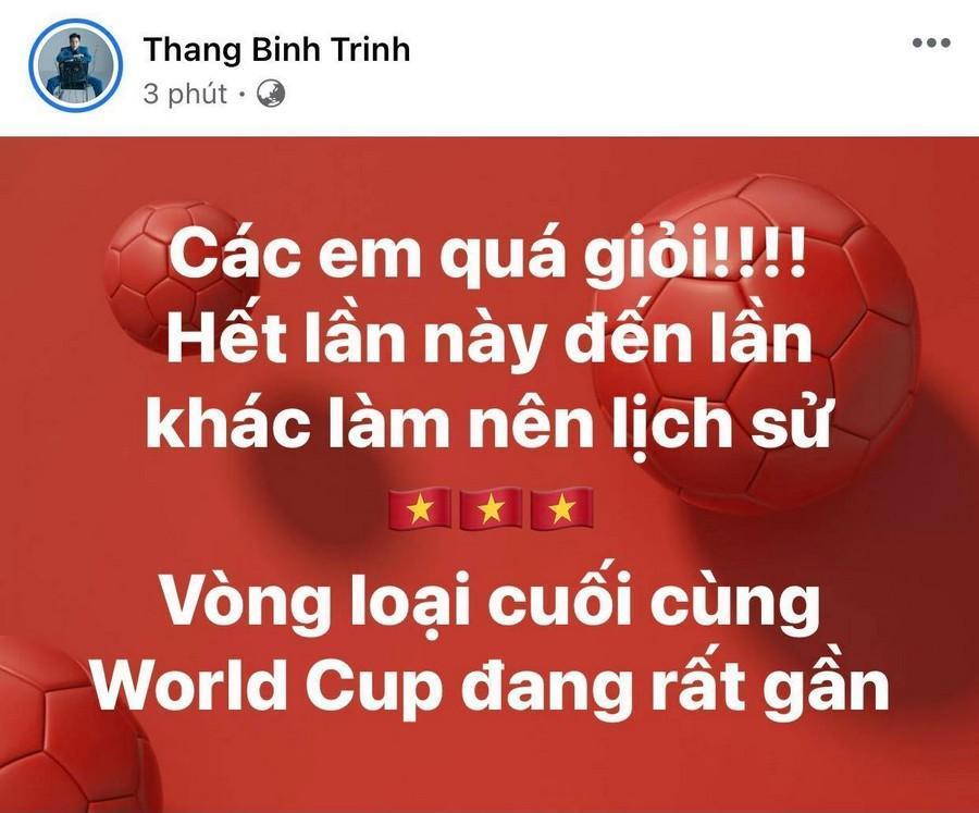 Dàn Hoa hậu, Á hậu nô nức cổ vũ, vỡ òa khi đội tuyển Việt Nam thắng 2-1 trước Malaysia Ảnh 16