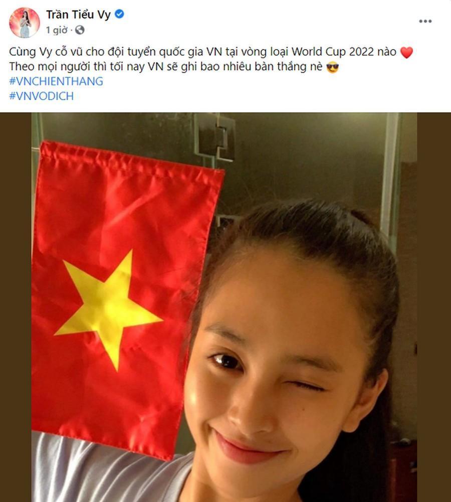 Dàn Hoa hậu, Á hậu nô nức cổ vũ, vỡ òa khi đội tuyển Việt Nam thắng 2-1 trước Malaysia Ảnh 4