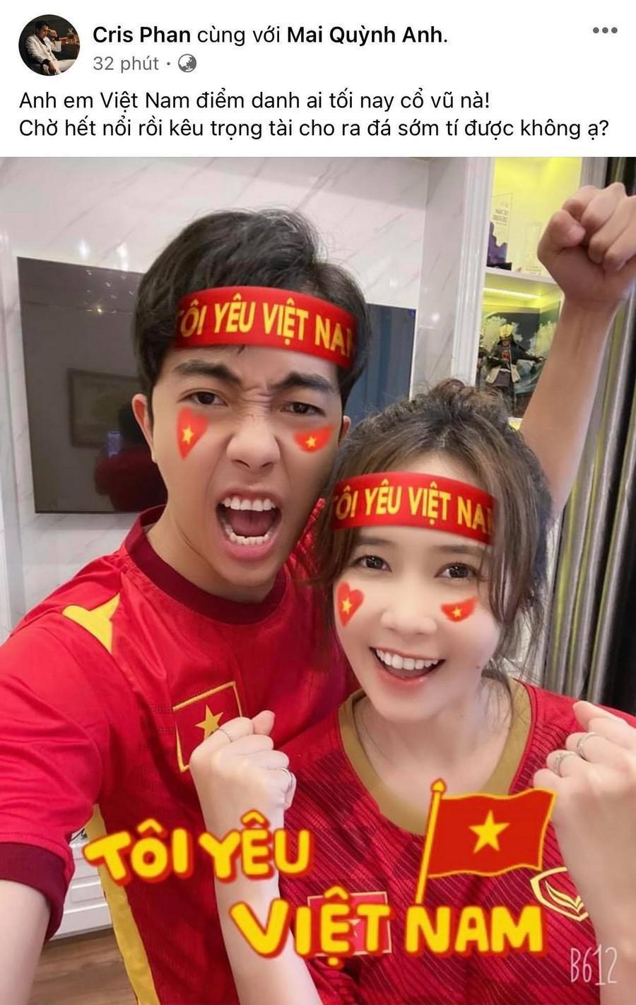 Dàn Hoa hậu, Á hậu nô nức cổ vũ, vỡ òa khi đội tuyển Việt Nam thắng 2-1 trước Malaysia Ảnh 10