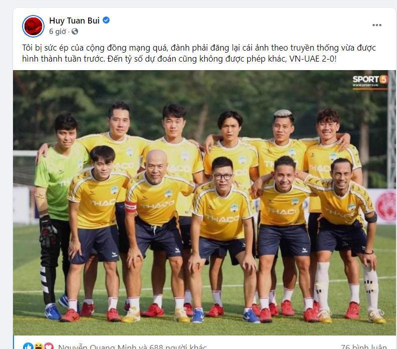 Trước trận Việt Nam-UAE, Xuân Hinh gửi lời tới thầy Park, bạn gái cũ Tiến Linh đoán tỉ số Ảnh 4