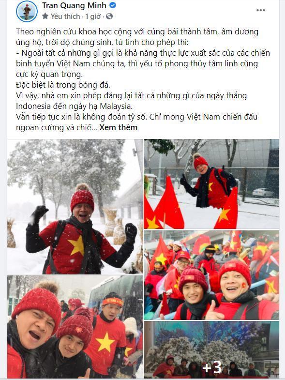 Trước trận Việt Nam-UAE, Xuân Hinh gửi lời tới thầy Park, bạn gái cũ Tiến Linh đoán tỉ số Ảnh 3