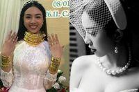 Lộ ảnh 'cực nóng' của Á hậu đeo 13 cây vàng trước đám cưới