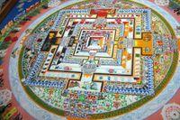 Loại tranh cát nổi tiếng của Phật giáo Tây Tạng
