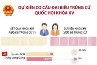 Dự kiến cơ cấu đại biểu trúng cử Quốc hội khóa XV