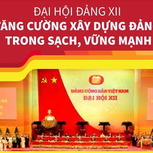 Đại hội Đảng XII: Tăng cường xây dựng Đảng trong sạch, vững mạnh