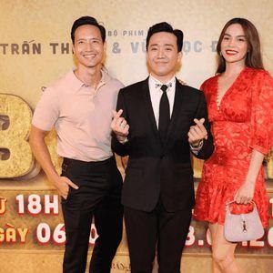 Hà Hồ - Kim Lý, Đông Nhi - Ông Cao Thắng 'trốn con' đến chúc mừng 'Bố Già' Trấn Thành
