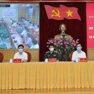 Đại tướng Lương Cường và các ứng cử viên ĐBQH khóa XV tiếp xúc cử tri, vận động bầu cử tại tỉnh Thanh Hóa