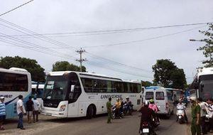 Kẹt xe nhiều giờ ở vòng xoay cầu Hùng Vương, Phan Thiết