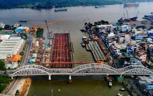 Cảnh bất động của dự án ngăn triều 10.000 tỷ ở Sài Gòn