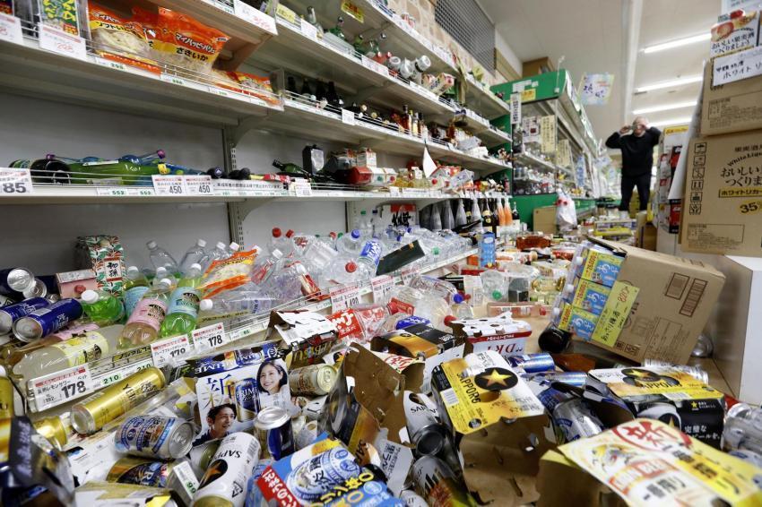 Ít nhất 15 người bị thương sau trận động đất ở Đông Bắc Nhật Bản