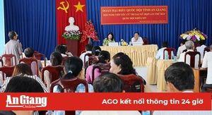 Bí thư Tỉnh ủy Võ Thị Ánh Xuân tiếp xúc cử tri