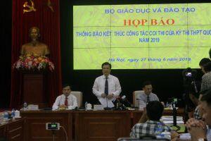 Họp báo sau kỳ thi THPT: Vụ 'lọt'đề lên mạng ở Phú Thọ đã được xử lý
