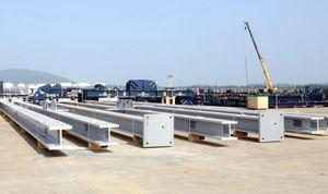 Doosan Vina xuất kết cấu thép đến nhà máy phân bón BFI, Brunei