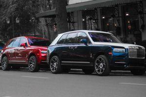 Bộ đôi SUV siêu sang Rolls-Royce Cullinan lần đầu 'đụng độ' tại Hà Nội