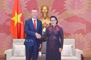 Chủ tịch Quốc hội Nguyễn Thị Kim Ngân tiếp Bộ trưởng Ngoại giao Latvia