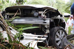 Hiện trường taxi Vinasun tông 2 bà cháu tử vong