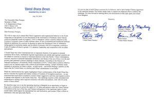 Thượng nghị sỹ Mỹ kêu gọi ông Mike Pompeo lên tiếng về Biển Đông