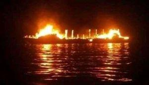 Cháy tàu biển tại Indonesia khiến 7 người thiệt mạng, 4 người mất tích