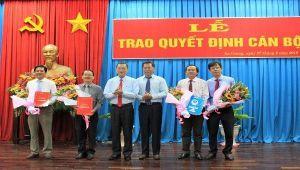 Ban Thường vụ Tỉnh ủy An Giang trao các quyết định về công tác cán bộ