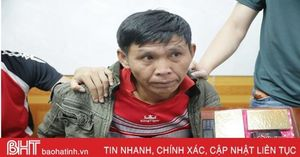 Cắt đường rừng vùng biên Hà Tĩnh vận chuyển 2 bánh heroin vào Việt Nam