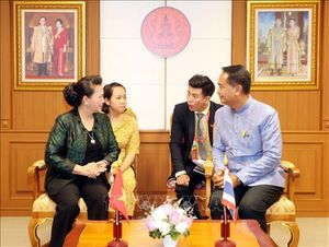 Chủ tịch Quốc hội Nguyễn Thị Kim Ngân thăm, làm việc tại tỉnh Udon Thani, Thái Lan