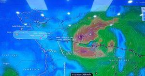 Bão Podul đe dọa một số công trình đê biển đang thi công