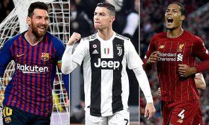 Vinh danh cầu thủ xuất sắc nhất châu Âu mùa giải 2018 - 2019