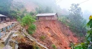 Công an các huyện miền núi chủ động phòng, chống bão số 4