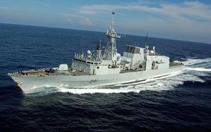 Chiến hạm Canada đi qua eo biển Đài Loan, chuẩn bị tiến vào Biển Đông